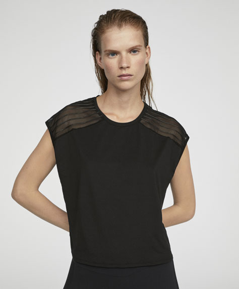 Bonded lines T-shirt