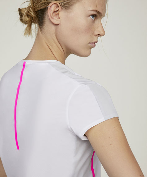 Maglietta a manica corta a blocchi