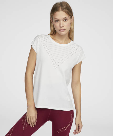 White knit T-shirt