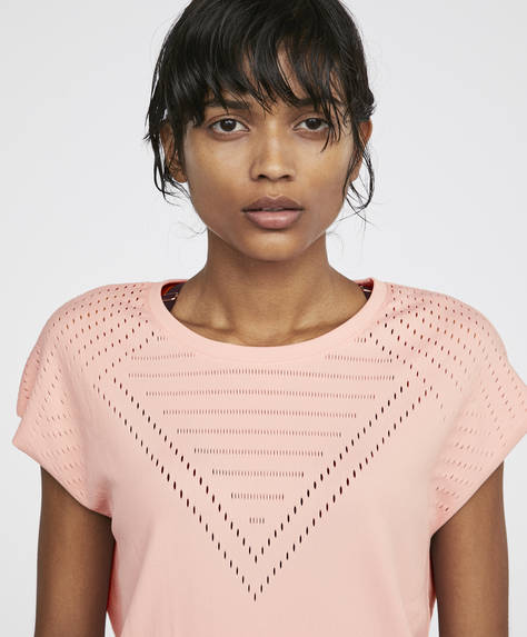 T-shirt maille rose