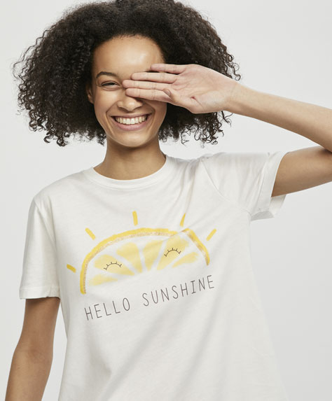 T-shirt with lemon sun