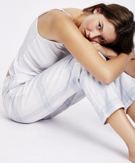 Pantaloni a quadri tartan