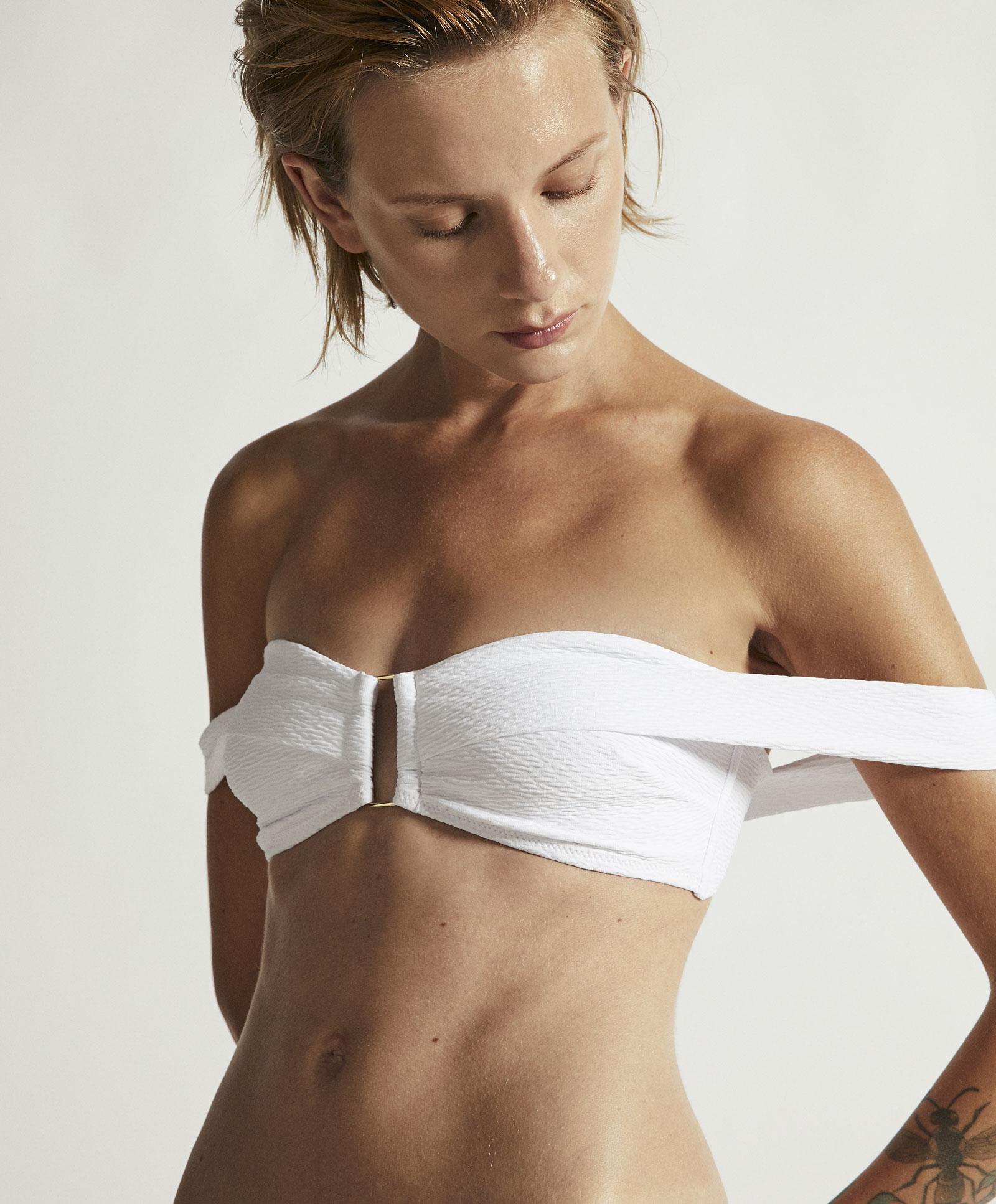 8cfefce53a £22 99Love Oysho Texture At Top Wavy Bandeau The Brands Bikini Nm8nwvO0
