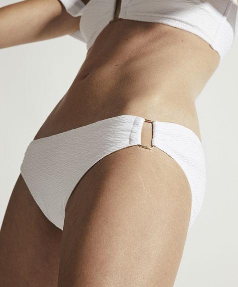 Classic wavy texture bikini bottoms