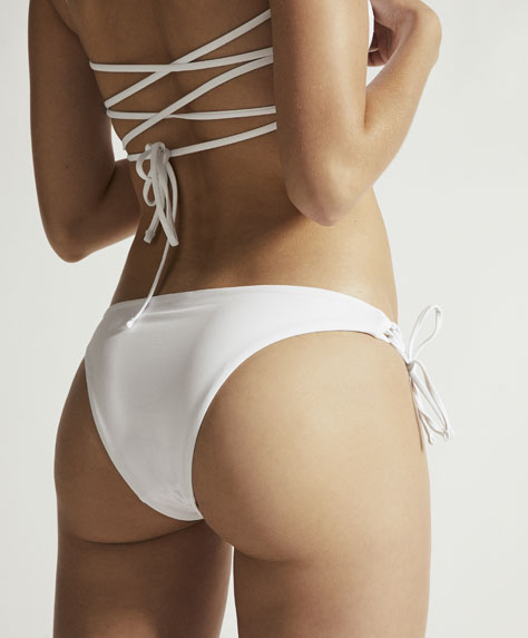 Striped Brazilian bikini briefs