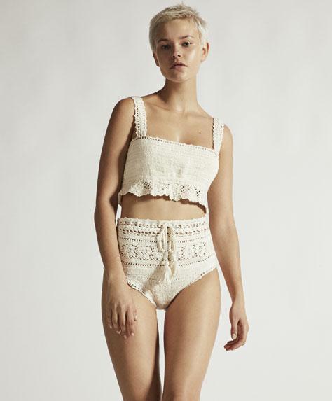 Crochet bikini top
