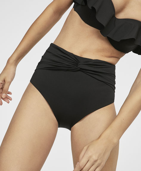 High-waist bikini briefs