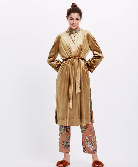 Velvet dressing gown