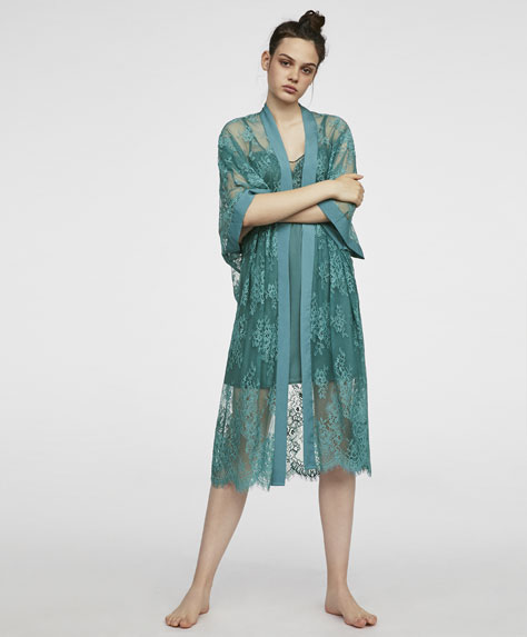 Robe de chambre kimono dentelle