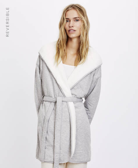 Long marl dressing gown