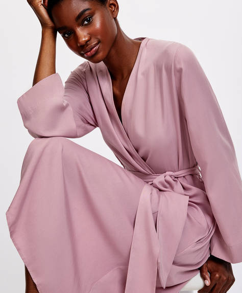 Plain TENCEL® dressing gown