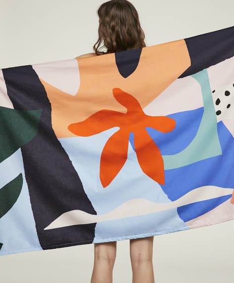 Abstract sarong towel