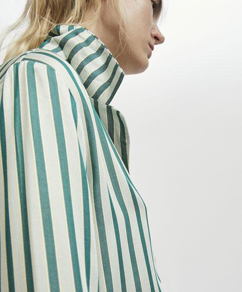 Camisa raya orquidea