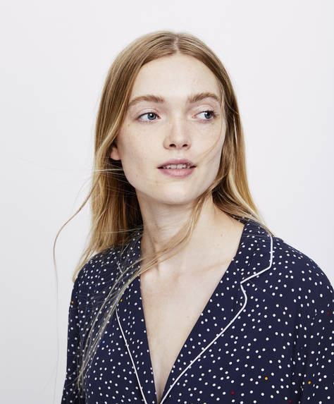 Irregular polka dot shirt