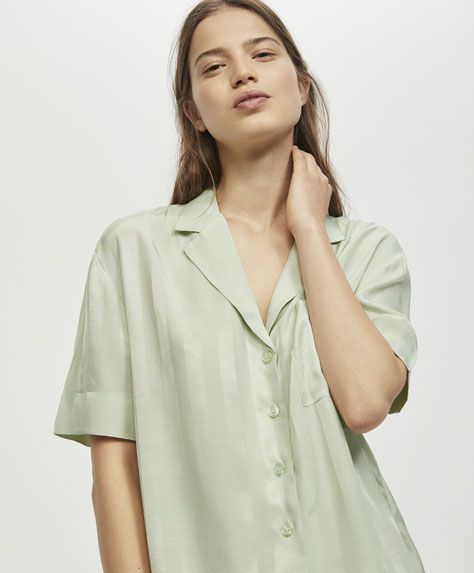 Green jacquard shirt