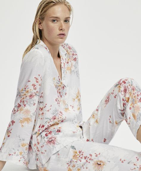 Camisa flor camélia