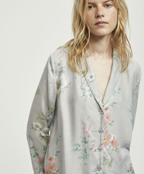 Melissa flower print long sleeve shirt