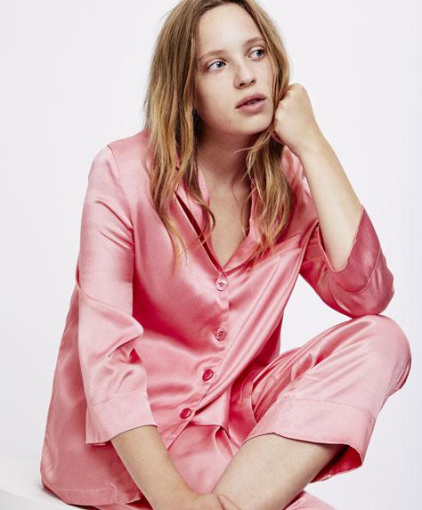 Camicia rosa tinta unita