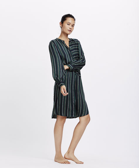 Multi-stripe nightdress