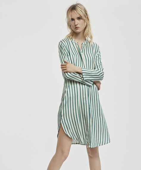 Long sleeve nightdress with stripes