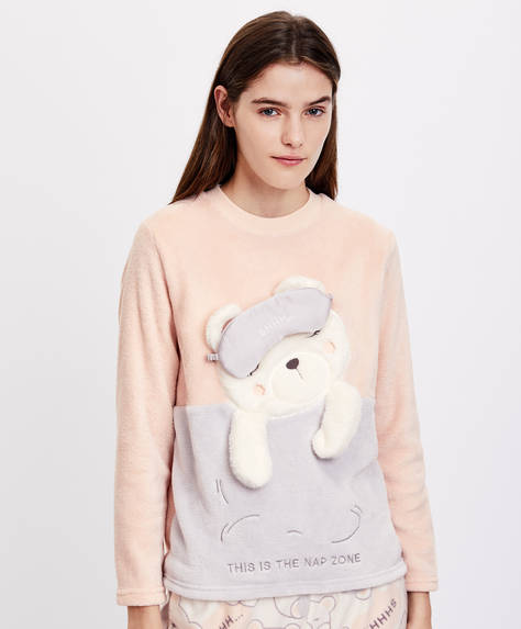 Sweatshirt Com Urso A Dormir by Oysho