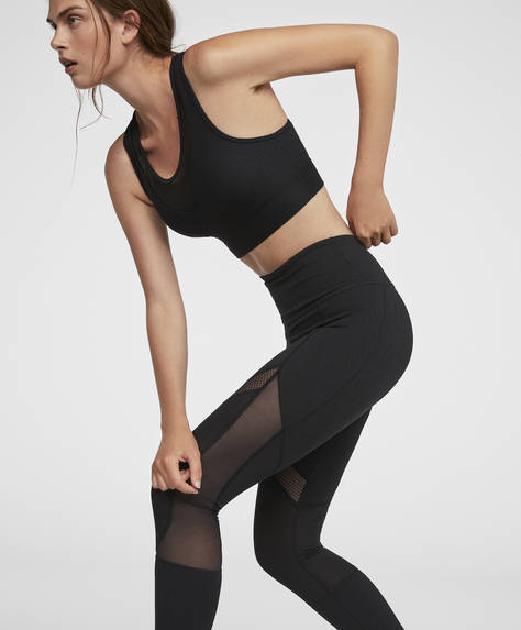 Black ankle-length leggings