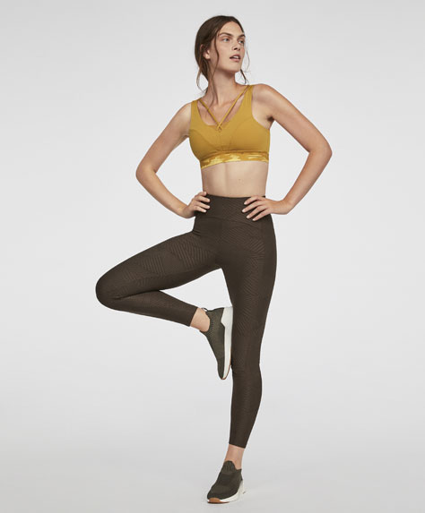 Jacquard ankle-length leggings