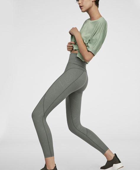 Calendered cotton leggings