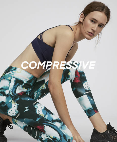 Printed compression leggings