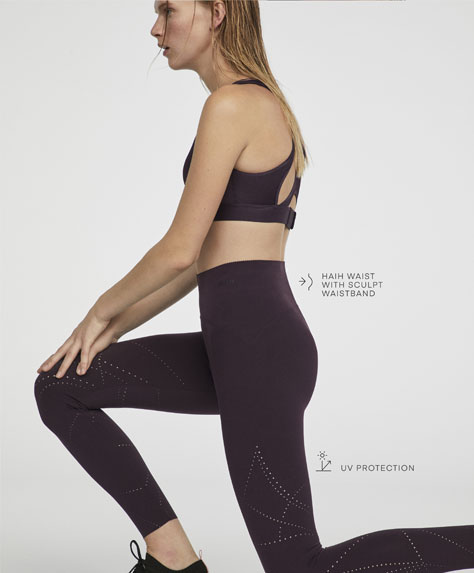 Breathable compression leggings