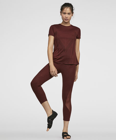 Burgundy capri leggings