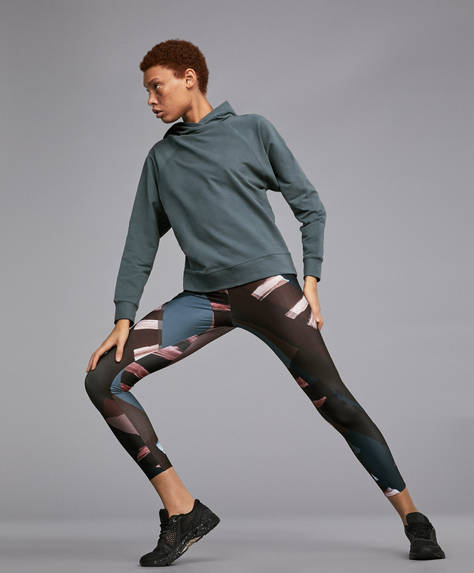 Paper collage leggings