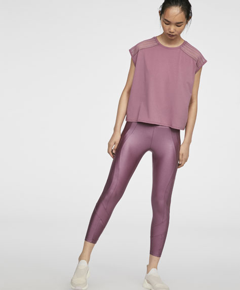Leggings in Metallic-Optik