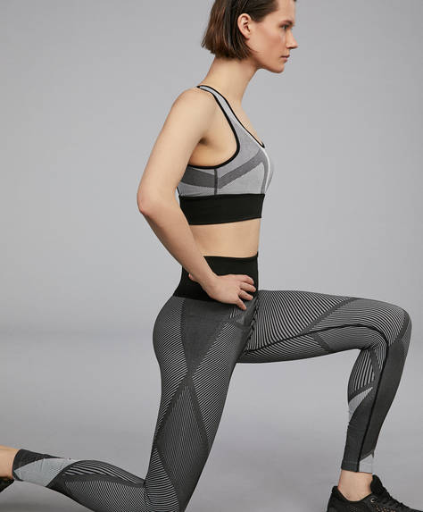 Seamless leggings with super-high waist