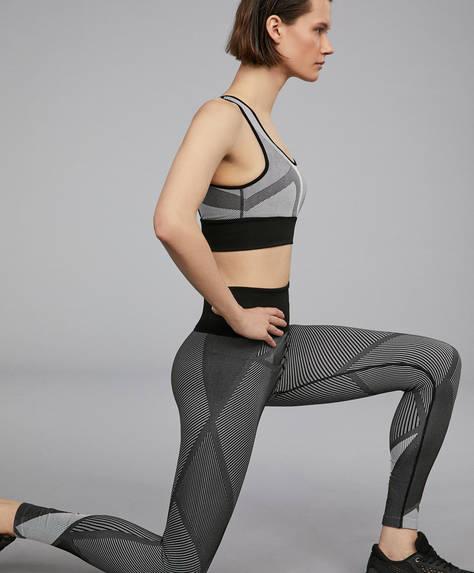 Nahtlose Leggings mit extra hohem Bund