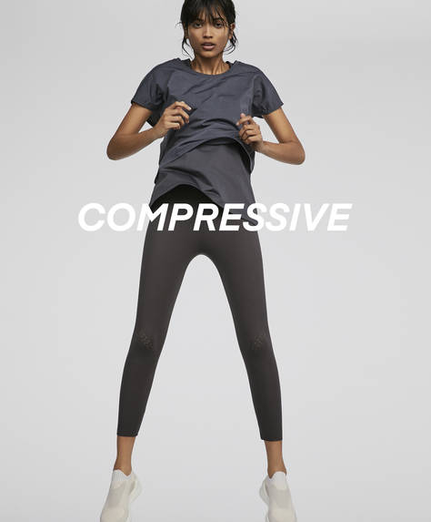 Leggings crop compressius