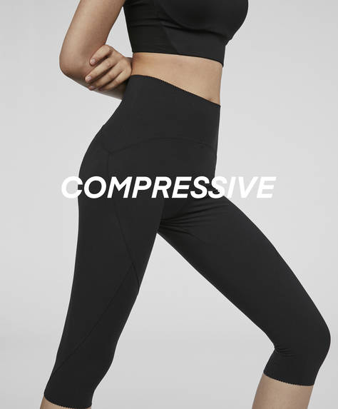 Compression capri leggings