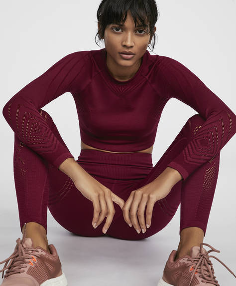 Leggings seamless framboise
