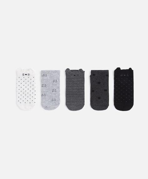 5-pack of kitten socks