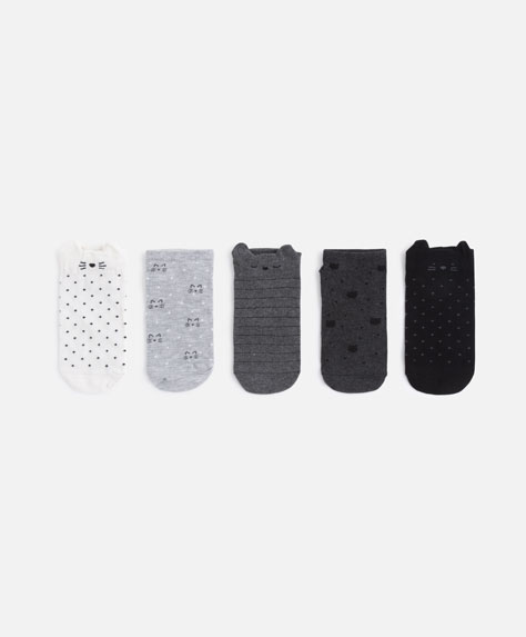 5-pack of kitten socks