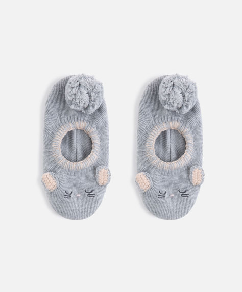 Knit mouse footsies