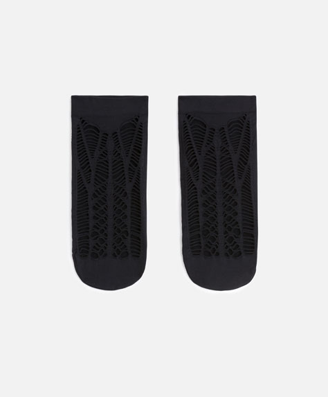 Macramé no show socks