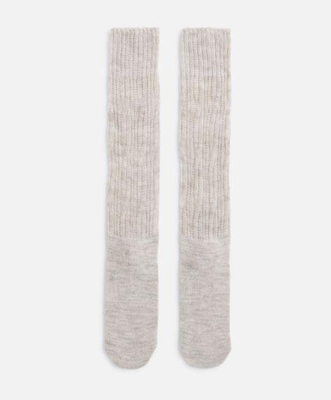 Chunky knit socks