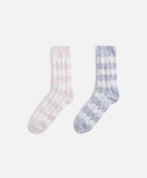 2 pairs of fleece socks