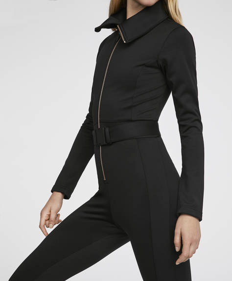 All-in-one ski suit with long sleeves