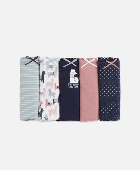5 llama print hipster briefs