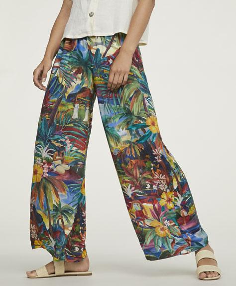 Μακρύ παντελόνι με τοπίο