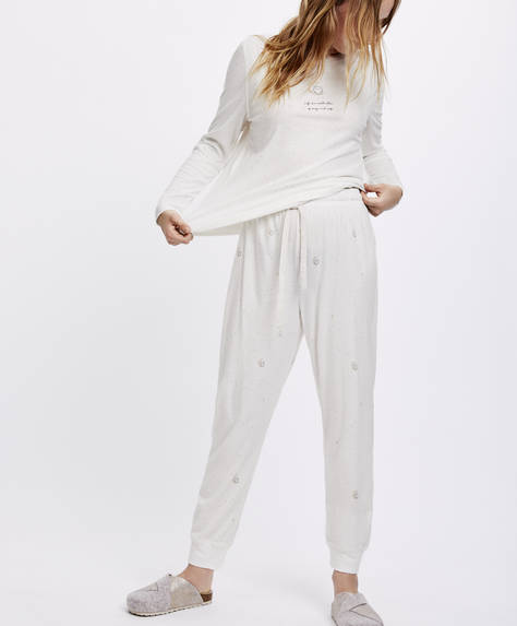 Owl and moon trousers