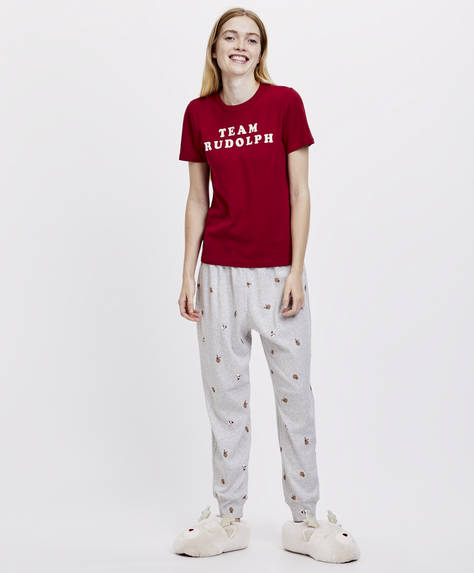 Reindeer and snowman trousers
