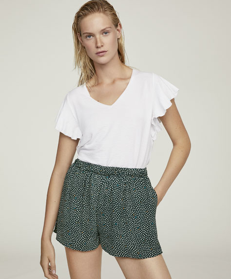 Dotted print shorts